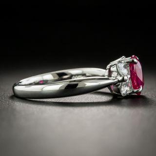 Estate 1.11 Carat Burmese Ruby and Diamond Ring