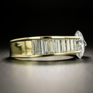 Estate 1.11 Carat Diamond Arrow Ring - GIA G SI2