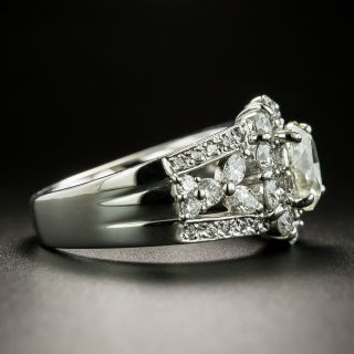 Estate 1.11 Carat Oval-Cut Diamond Engagement Ring