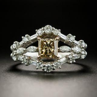 Estate 1.11 Carat Princess-Cut Natural Brown Diamond Engagement Ring - GIA - 2