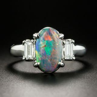 Estate 1.17 Carat Opal and Diamond Ring  - 2
