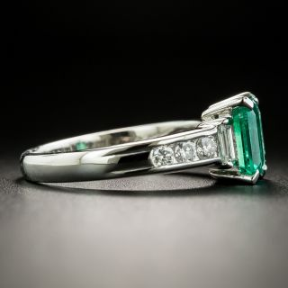 Estate 1.19 Carat Emerald and Diamond Ring