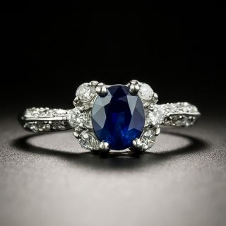 Estate 1.20 Carat Sapphire and Diamond Ring - 2