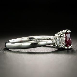 Estate 1.27 Carat Burmese Ruby and Diamond Ring