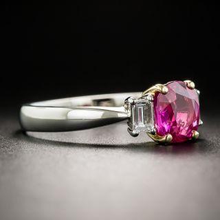 Estate 1.29 Carat Oval Burma Ruby and Diamond Ring