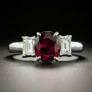 Estate 1.32 Carat Ruby and Diamond Ring - 1