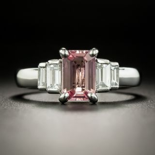 Estate 1.34 Carat Pink Sapphire and Diamond Ring - 3