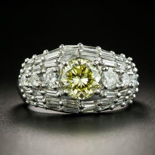 Estate 1.43 Carat Natural Fancy Intense Yellow Diamond Ring - GIA - 1