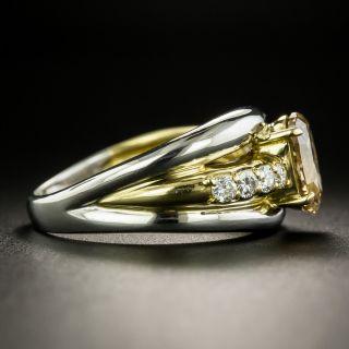 Estate 1.47 Carat Cushion-Cut Fancy Brown-Yellow Diamond Ring - GIA I1