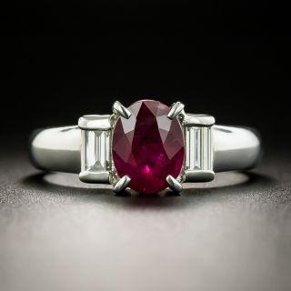 Estate 1.48 Carat Ruby and Diamond Ring - 2