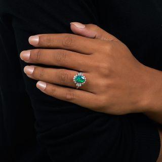 Estate 1.53 Carat Black Opal and Diamond Ring