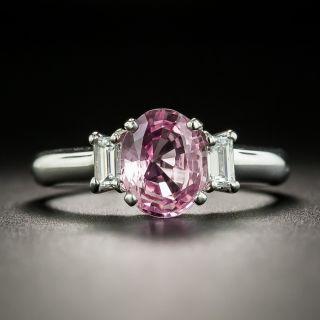 Estate 1.57 Carat No-Heat Pink Sapphire and Diamond Ring - 2