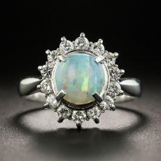Estate 1.67 Carat Opal and Diamond Ring - 1