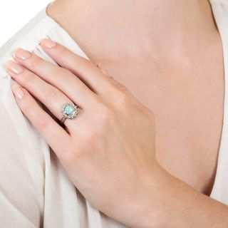 Estate 1.67 Carat Opal and Diamond Ring