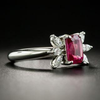 Estate 1.70 Carat Burmese Ruby and Diamond Ring