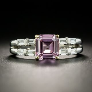 Estate 1.73 No Heat Pink Sapphire and Diamond Ring - 2