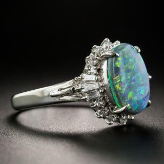Estate 1.91 Carat Opal and Diamond Ring