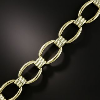 Estate 14K Fancy Link Bracelet - 2