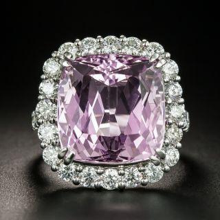 Estate 15.43 Carat Kunzite and Diamond Ring - 2