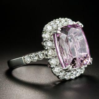Estate 15.43 Carat Kunzite and Diamond Ring