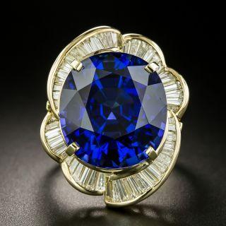 Estate 18.80 Carat Tanzanite and Diamond Ring - 2