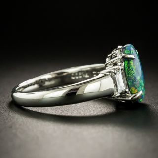 Estate 2.00 Carat Black Opal and Diamond Ring