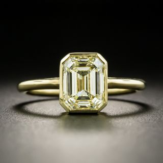 Estate 2.00 Carat Emerald-Cut Diamond Engagement Ring - 2