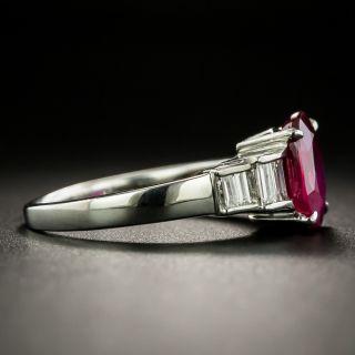 Estate 2.01 Carat Ruby and Diamond Ring - GIA