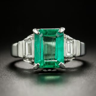 Estate 2.13 Carat Emerald and Diamond Ring - 2