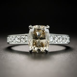 Estate 2.21 Carat Fancy Yellowish Brown Diamond Ring GIA SI1 - 2