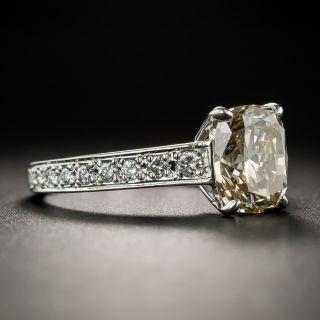 Estate 2.21 Carat Fancy Yellowish Brown Diamond Ring GIA SI1