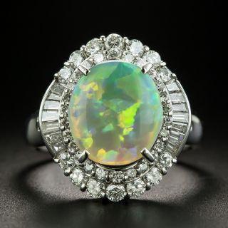 Estate 2.28 Carat Opal and Diamond Ring - 1
