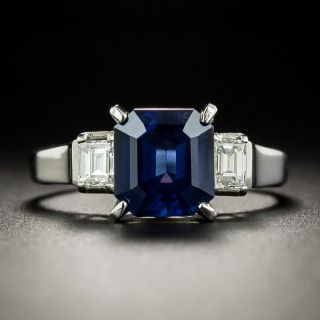 Estate 2.30 Carat Sapphire and Diamond Ring - 3