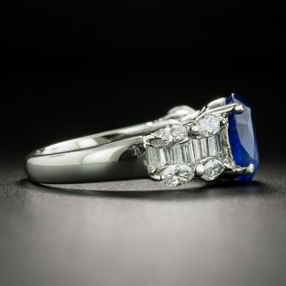 Estate 2.36 Carat No-Heat Burma Sapphire and Diamond Ring - GIA