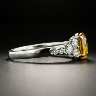 Estate 2.42 Carat Yellow Sapphire and Diamond Ring