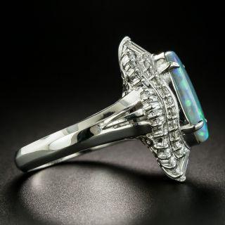 Estate 2.46 Carat Australian Black Opal and Diamond Ring