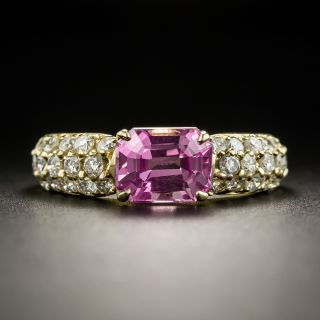 Estate 2.46 Carat Pink Sapphire and Diamond Ring - 1