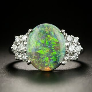 Estate 2.49 Carat Opal and Diamond Ring  - 3