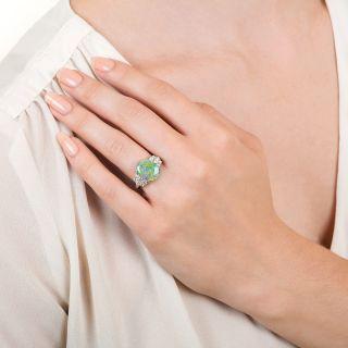 Estate 2.49 Carat Opal and Diamond Ring