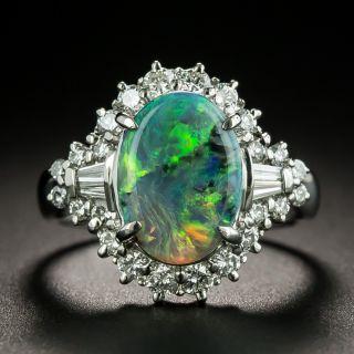 Estate 2.52 Carat Black Opal and Diamond Ring - 1