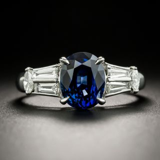 Estate 2.57 Carat Sapphire and Diamond Ring - 2