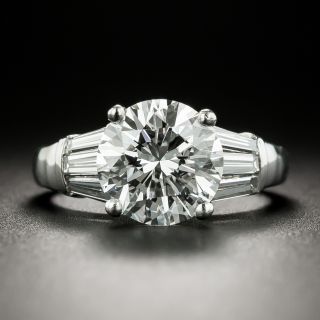 Estate 2.66 Carat Diamond Engagement Ring - GIA D VS1 - 2