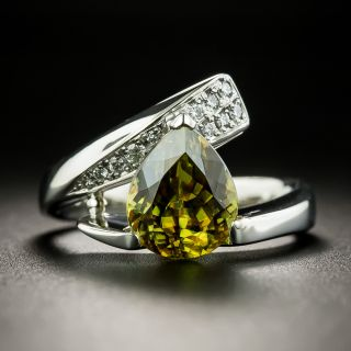 Estate 2.79 Carat Sphene and Diamond Ring - 1