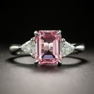 Estate 2.82 Carat Pink Sapphire and Diamond Ring - 2