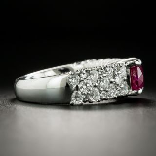 Estate 2.90 Carat Burmese Ruby and Diamond Ring - GIA
