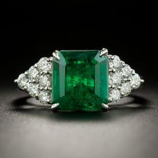 Estate 3.50 Carat Emerald and Diamond Ring - 3