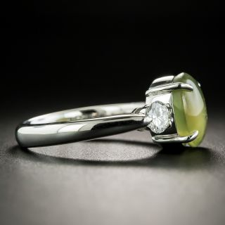 Estate 3.55 Carat Chrysoberyl Cat's-Eye and Diamond Ring