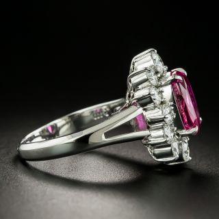 Estate 3.61 Carat No-Heat Ruby and Diamond Ring