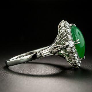 Estate 3.65 Carat Burmese Jade and Diamond Ring
