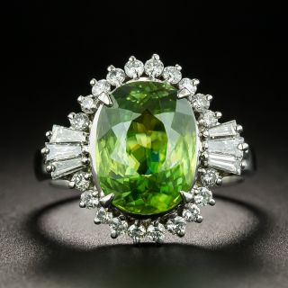 Estate 3.66 Carat Sphene and Diamond Ring - 1